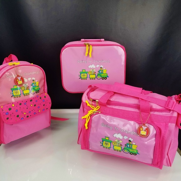 057ddc08bc7d Mercury Luggage Set Going to Grandmas Girls Pink